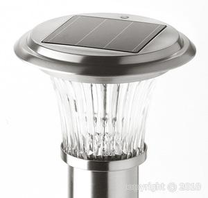 lampe solaire de jardin roma led fixer. Black Bedroom Furniture Sets. Home Design Ideas
